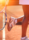 Joueur de tennis féminin Photographie stock
