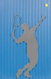 Joueur de tennis, fond Image libre de droits