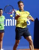 Joueur de tennis hongrois Marton Fucsovics Images stock