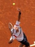 Joueur de tennis kazakh Mikhail Kukushkin Photographie stock libre de droits