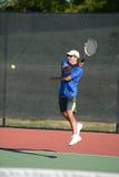 Joueur de tennis mûr Photo libre de droits