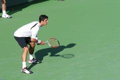 Joueur de tennis professionnel. Photo stock