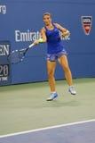 Joueur de tennis professionnel Sara Errani pendant le match à l'US Open 2014 Images libres de droits