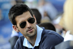 Joueur de tennis serbe Novak Djokovic Photos libres de droits