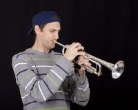 Joueur de trompette photographie stock