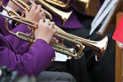 Joueur de trompette photographie stock libre de droits
