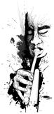 Joueur de trompette illustration de vecteur