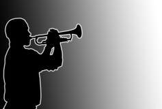 Joueur de trompette rougeoyant Image libre de droits