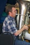 Joueur de Tuba photo stock