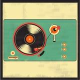 Joueur de vintage de vinyle Images libres de droits