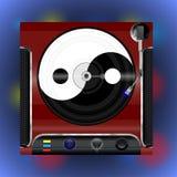 Joueur de vinyle avec le plat illustration libre de droits