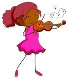 Joueur de violon illustration de vecteur