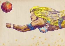 Joueur de volleyball, femme - no.2 Image libre de droits