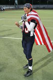 Joueur des Etats-Unis d'équipe avec la médaille d'indicateur et d'or des Etats-Unis Images libres de droits