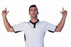 Joueur enthousiaste de rugby se dirigeant  images stock