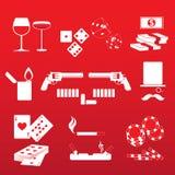Joueur et casino illustration de vecteur