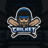 Joueur et chauves-souris de cricket Photographie stock