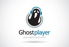 Joueur Logo Template Design Vector, emblème, concept de construction, symbole créatif, icône de Ghost Images libres de droits