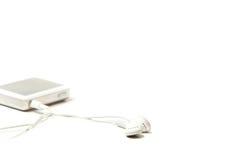 Joueur MP3 avec des écouteurs Photo libre de droits