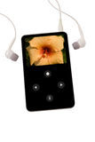 Joueur MP3 d'isolement sur le blanc Photos libres de droits
