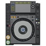 Joueur noir de plaque tournante du DJ, vue supérieure Photographie stock