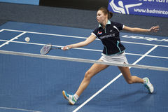 Joueur Soraya de Visch Eijbergen de badminton Photos libres de droits