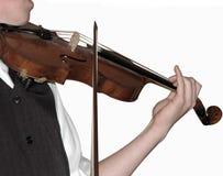 Joueur violine, (d'isolement) Photo stock