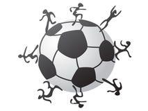 Joueurs autour du football Image libre de droits