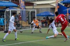 Joueurs cambodgiens dans l'action, Kampot cambodia images libres de droits