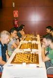 Joueurs d'échecs de Montcada Photo libre de droits