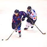 Joueurs d'hockey Photographie stock libre de droits