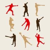 Joueurs de baseball Images libres de droits