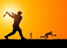 Joueurs de baseball Image libre de droits