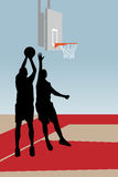 Joueurs de basket Images stock
