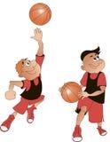 Joueurs de basket bande dessinée, vecteur Photographie stock libre de droits