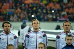 Joueurs de FC Bavière Images libres de droits