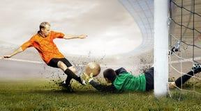 Joueurs de football Photos stock