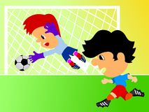 Joueurs de football Illustration Stock