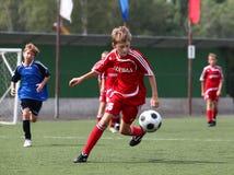 Joueurs de football Photographie stock