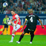joueurs de football Photo stock