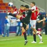 Joueurs de football Image libre de droits