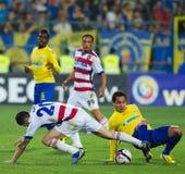 Joueurs de football Images libres de droits