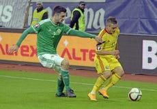 Joueurs de football dans l'action Photographie stock libre de droits