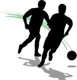 Joueurs de football/football/ENV Image libre de droits