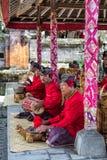 Joueurs de Gamelan de Balinese Photos libres de droits