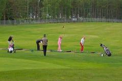 Joueurs de golf Image libre de droits