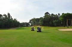Joueurs de golf, Andalousie, Espagne Photos stock