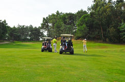 Joueurs de golf, Andalousie, Espagne Photographie stock libre de droits