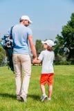 Joueurs de golf sûrs Photographie stock libre de droits