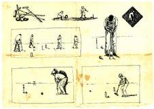 Joueurs de jeu de croquet Image libre de droits